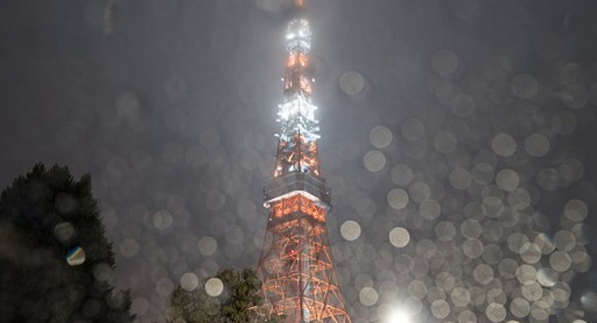Tokyo Tower in the rain